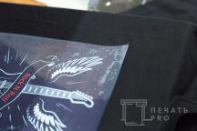 Черные футболки с надписью «Sport Drive & ROCK'N'ROLL»