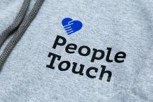 Серые толстовки с логотипом «People touch»