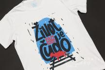 Белая футболка с картинкой «Жизнь как чудо»