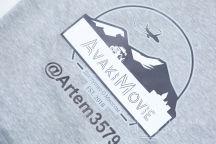 Серая толстовка с логотипом «AvakiMovie»