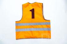 Оранжевый сигнальный жилет с цифрой «1»