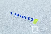 Серые футболки с логотипом «TRIGO»