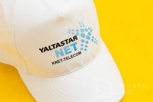 Белые бейсболки с логотипом «YALTASTAR»
