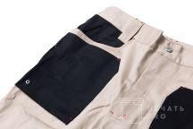 Двухцветные брюки с текстом «Digis»