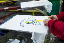 Белые футболки с логотипом «ФЕСТИВАЛЬ ХОРОВ»