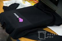 Печать на черных свитшотах Webinar