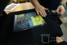 Черные толстовки с изображением в виде картин