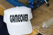 Бейсболка с надписью «GAME OVER»