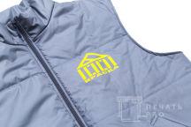 Серые жилеты с логотипом «Краска»