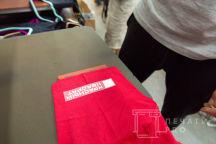 Красные футболки с изображением г.Магадана