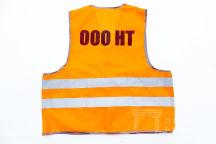 Оранжевые сигнальные жилеты с логотипом «ООО НТ»
