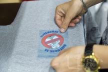 Серые толстовки с логотипом «Охотники за дефектами»
