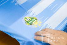 Голубые спортивные футболки с логотипом «FC-VER»
