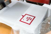 Белые футболки с логотипом «МОЙ ГОРОД ДЛЯ ЖИЗНИ»