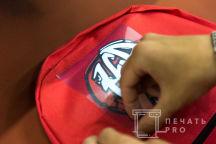 Красные рюкзаки с лого «DANCE FAMILY»