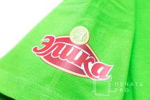 Зеленые футболки-поло с логотипом «Элика»