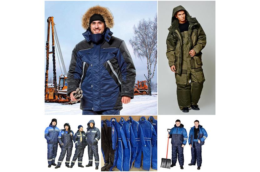 Фото примеров комплектов зимней спецодежды