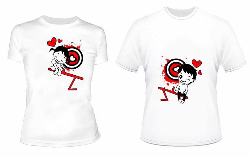 Фото парных футболок с изображением мальчика и девочки