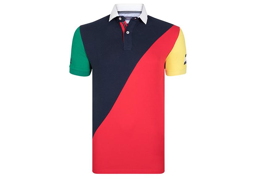 Изображение разноцветной футболки поло