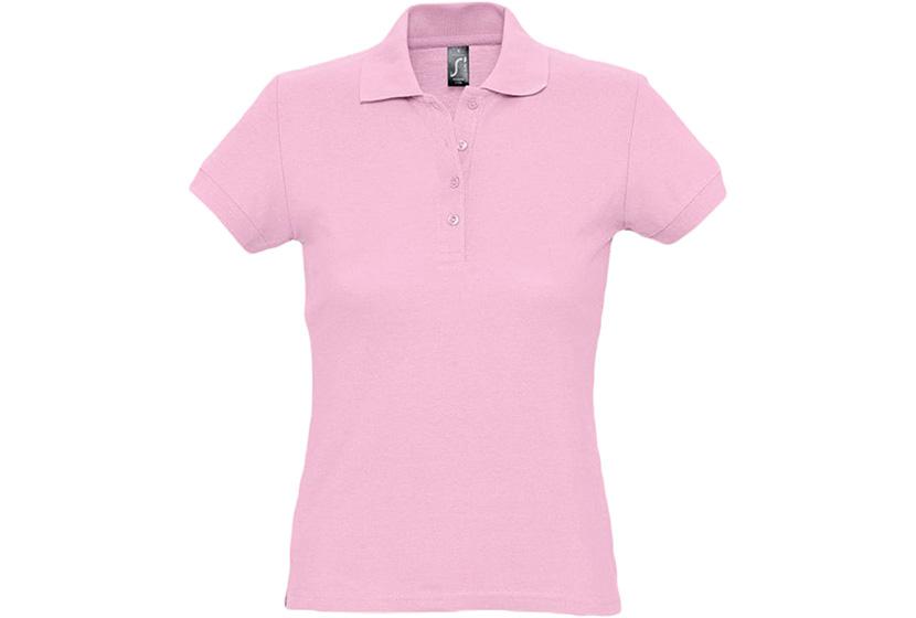 Фото женской розовой футболки поло