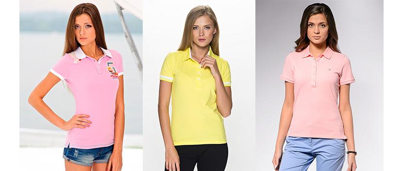 Изображение с девушками в разных модных футболках поло