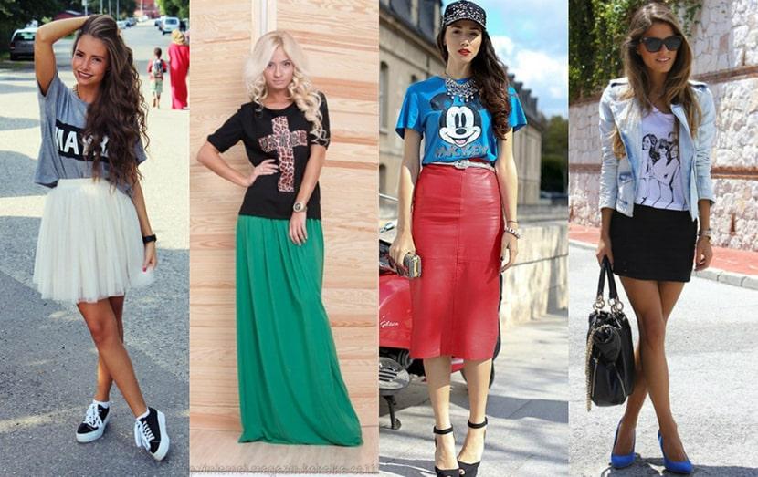 Изображения девушек в футболках с разными прикольными картинками