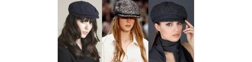Фото с женскими французскими кепками разного цвета