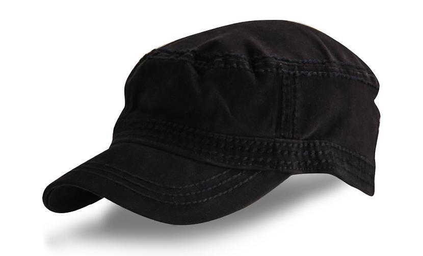 Картинка с кепкой «немкой» черного цвета для девушки